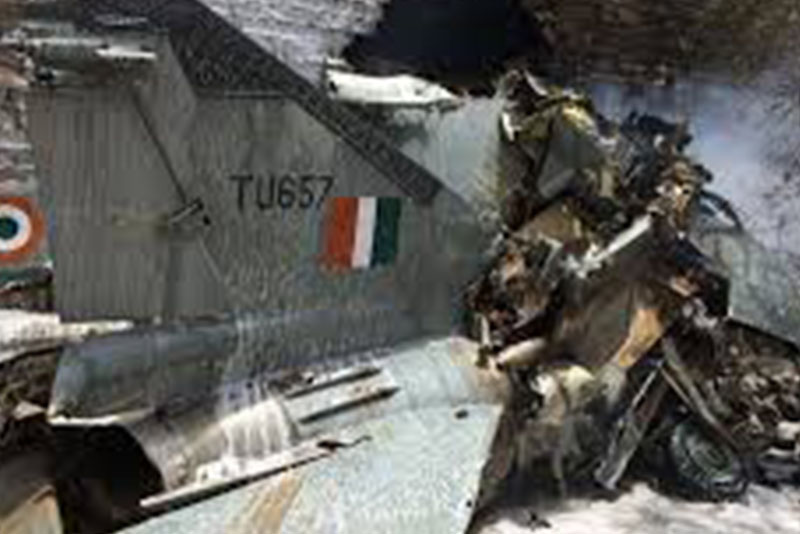 भारतमा विमान दुर्घटना